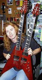 dave mustaine con jackson double neck